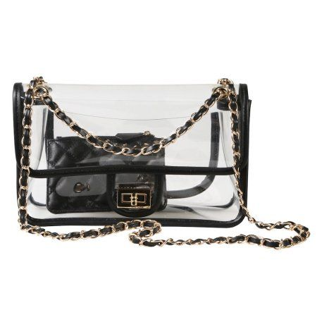 faa6ac92bf Women s Stadium Approved Clear Handbag - Airport Security Transparent Purse  - 10