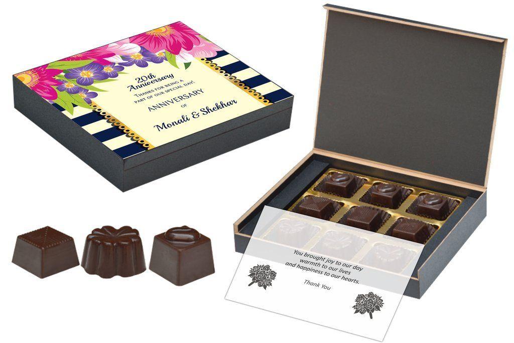Customised Wedding Anniversary Return Gifts 9 Chocolate Box