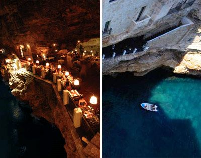 Hotel Grotta Palazzese Restaurant Polignano A Mare Town Bari Province Apulia Region Italy Country