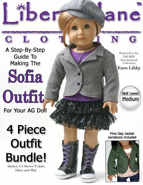 Pixie Faire Liberty Jane Sofia Outfit Bundle Doll Clothes Pattern ...