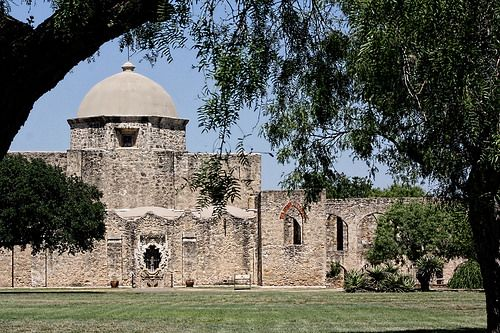 Saint Jose Mission, San Antonio, TX, USA.