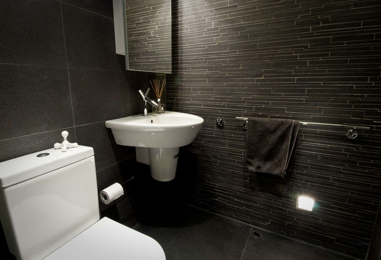 Bathroom Black Modern Small Bathroom Remodel