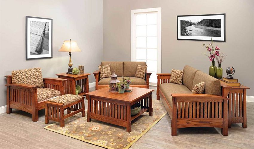 How To Create A Mission Style Living Space Living Room Sofa Set Living Room Sets Furniture Mission Style Living Room Furniture