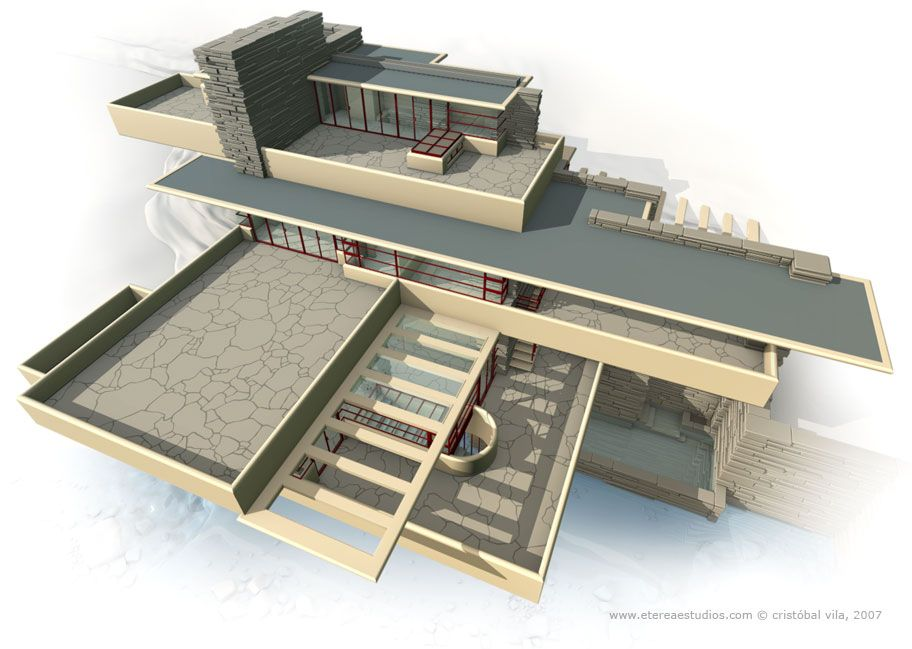 Third Floor U0026 Roof   Frank Lloyd Wright #Historia #Arte #Design @Qomomolo. Falling  Water ...