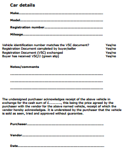 Car Sale Agreement Uk Private Car Sale Contract Template
