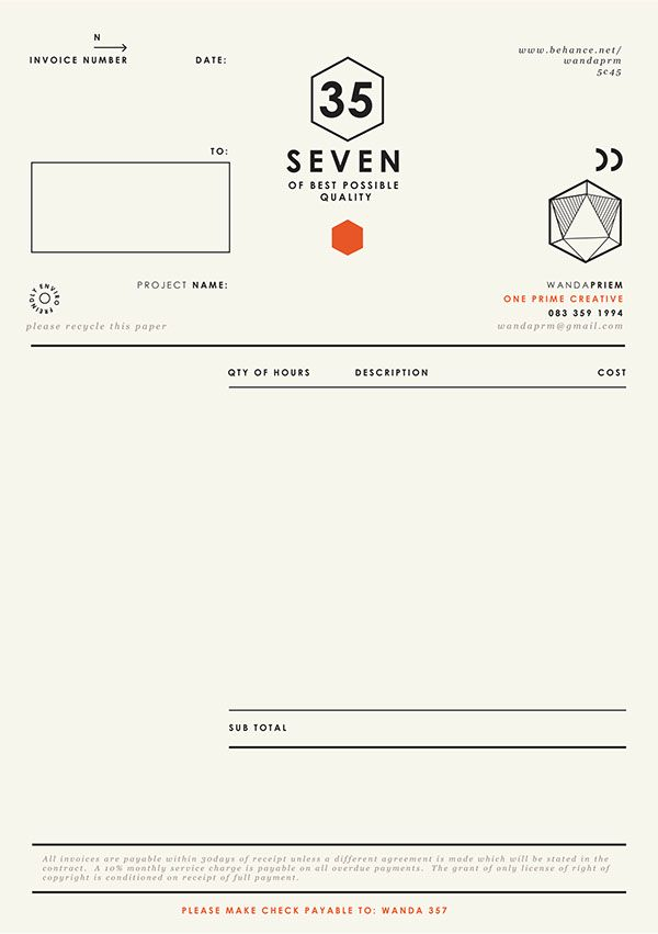 Graphic Design Invoice  Layout    Graphic Designers
