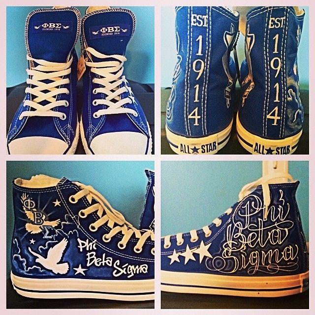 ab25efb3844d Phi Beta Sigma customized Converse sneakers