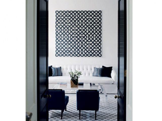 Favori Salon noir blanc sol tableau graphique pinterest | For the Home  JY81
