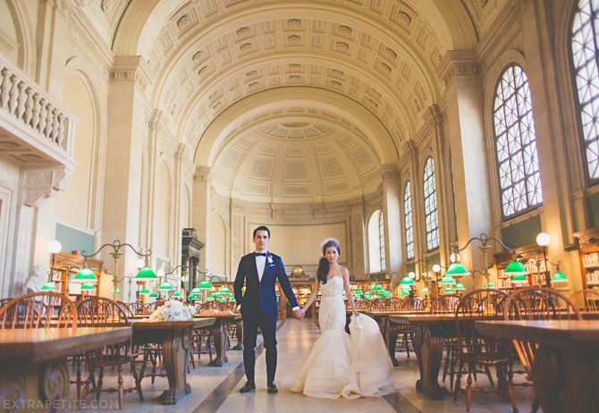 Our Boston Public Library Wedding Vintage Inspired And