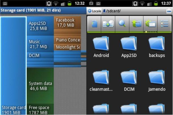 Liberare spazio su dispositivo Android