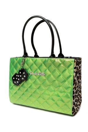 Lux Deville Women's Lucky Me Tote in Lime