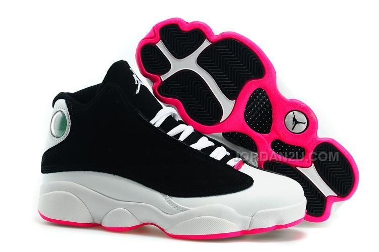 49ca2b9544a2f2 ... Air Jordan 13 - Women s Air Jordan 13 Girls Hyper Pink Release Date Top  439358-009 .