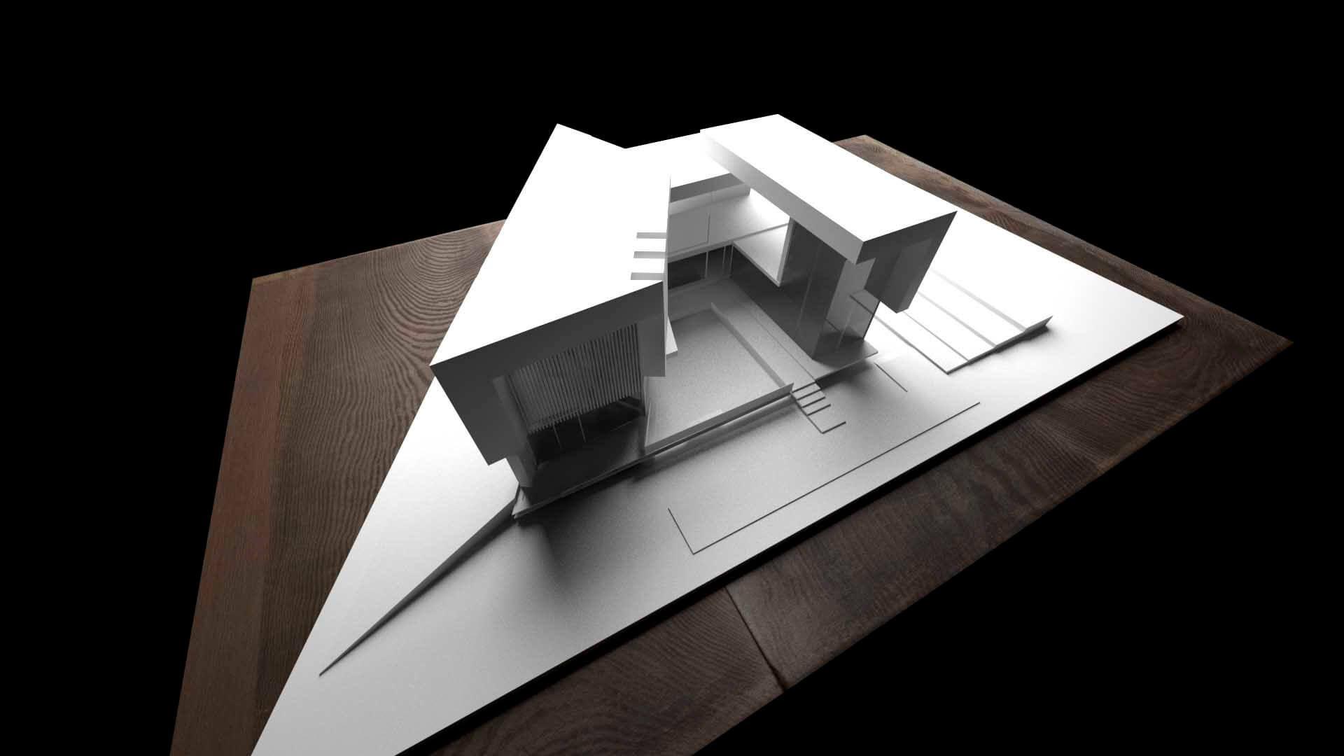 Creato projects h tel diamant maquetas arquitectura for Casa minimalista maqueta