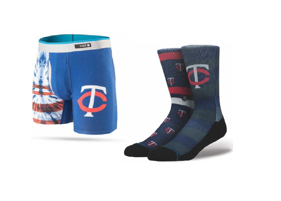 28c15672b0725 STANCE Men's Lot of 2 Minnesota Twins Socks L & The Basilone Boxer  Briefs M