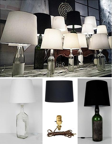 DIY: Maison Martin Margiela Bottle Lamps