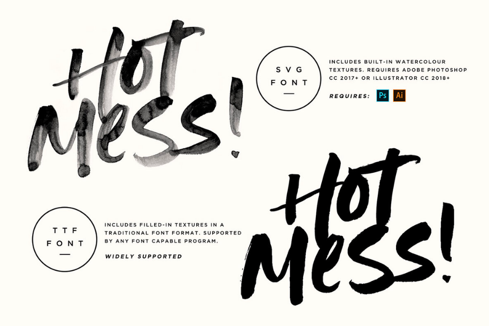 Hot Mess SVG Font (With images) fonts, Paint