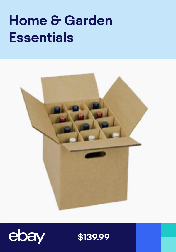 Wine Carrier Box With Handles Holds 12 Bottles With Inserts Fast Shipping Desain Kemasan Kemasan Desain