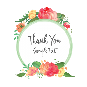Thank You Floral Flowers Wreaths Floral Flowers Vintage Flowers Png And Vector With Transparent Background For Free Download Floral Wreath Watercolor Flower Png Images Beautiful Flower Designs