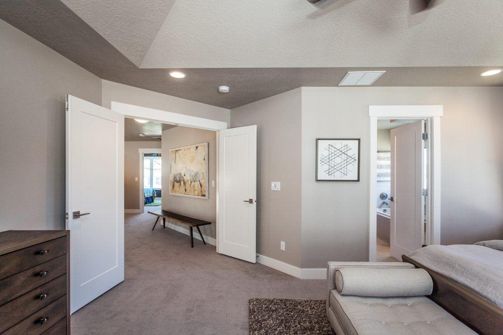 Master Bedroom With A Double Door Entrance Idea Gallery Edge Homes Double Door Entrance Bedroom Closet Doors Interior Barn Doors