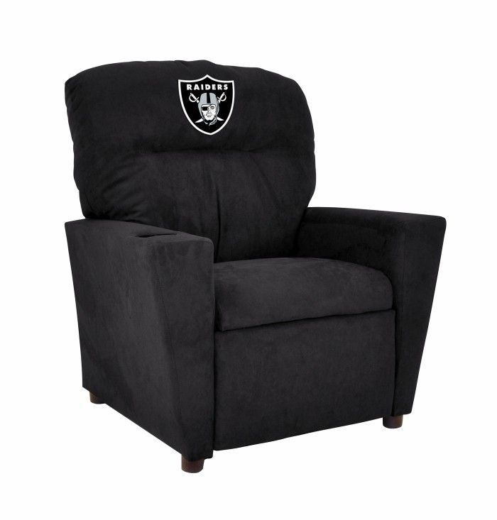 Oakland Raiders NFL Kids/Childrens Recliner Chair Furniture