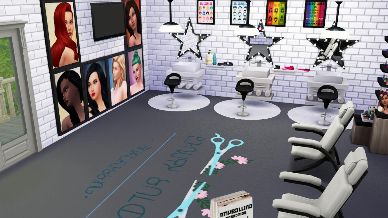 The Sims 4 Beauty Salon Stuff I'm still going