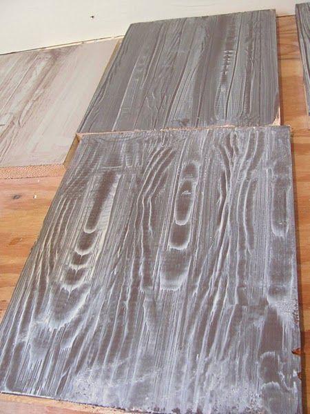 Faux Wood Floors With A Wood Grain Tool Simply Genius