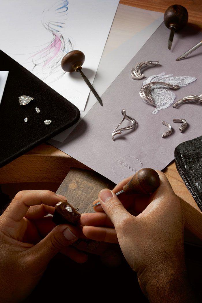 De Beers Imaginary Nature diamonds setting