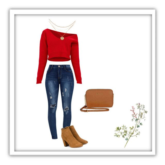 """""""Its to soon for fall's outfit?❤️"""" by jenimarrivera on Polyvore featuring Aquazzura and Michael Kors"""