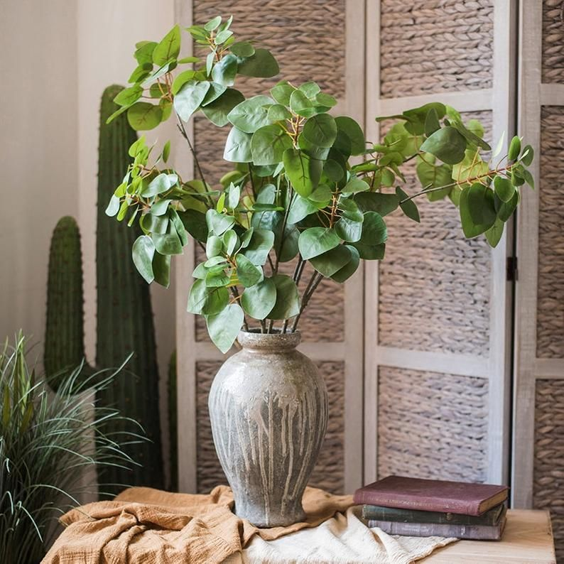 Faux Plant Artificial Bauhinia Leaf 34 Tall Etsy