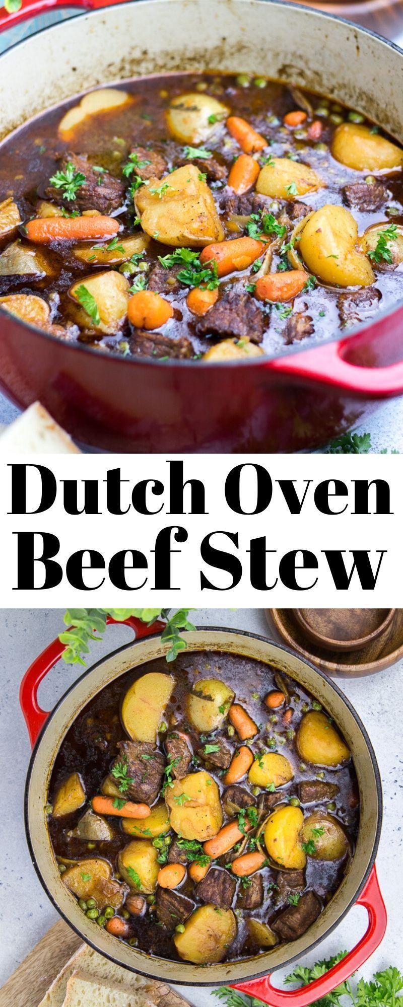 Dutch Oven Beef Stew Veronika S Kitchen Recipe Dutch Oven Beef Stew Oven Beef Stew Oven Recipes Healthy