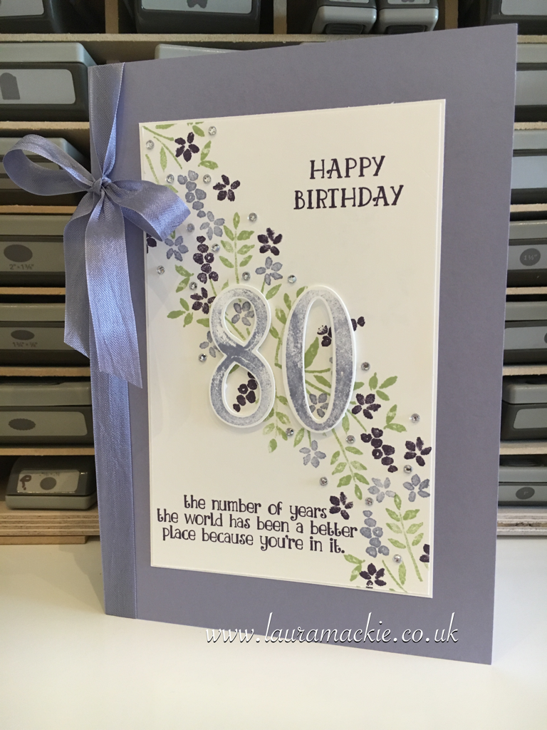 Stampinu up number of years birthday card stampin up pinterest