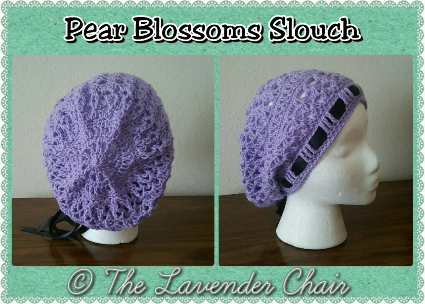 Pear Blossoms Slouch - Free Crochet Pattern - The Lavender Chair ...
