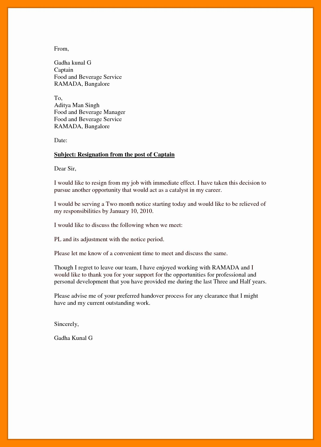 resignation letter effective immediately fresh 5 word document cv template free psychology graduate resume examples objective for any job