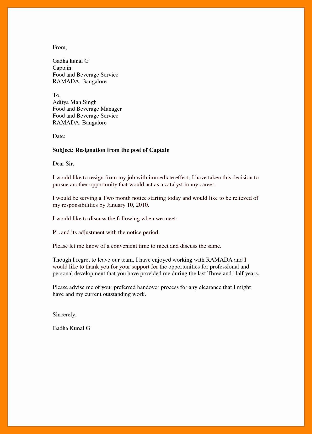 Resignation Letter Effective Immediately Fresh 5