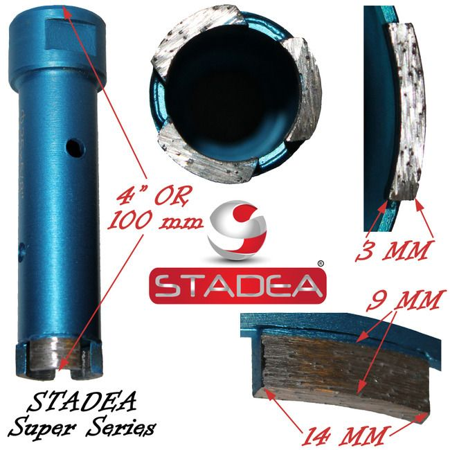 1 Diamond Hole Saw Diamond Core Drill Bits For Concrete Masonry Stone Granite Coring Drilling By Stadea Granite Tile Granite Stone Hole Saw