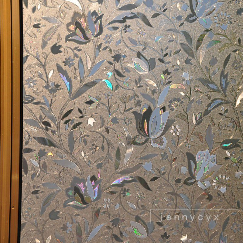 Free Shipping 3d View Frosted Stained Glass Static Cling Privacy Window Film Decorative Sticke Penetrator 314
