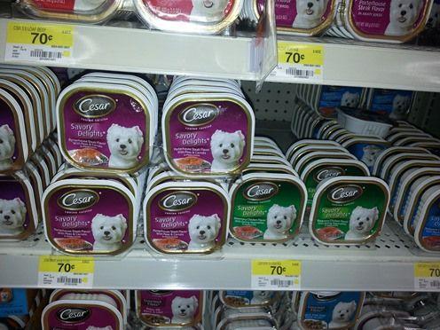 Cesar Dog Food Just 0 37 At Walmart Dog Food Comparison Dog