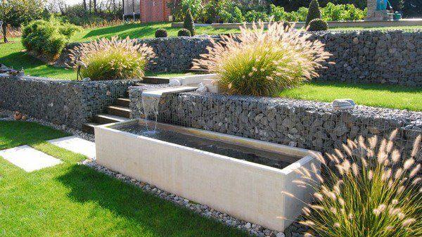 Love this - gabion retaining walls garden landscaping ideas garden decorating ideas