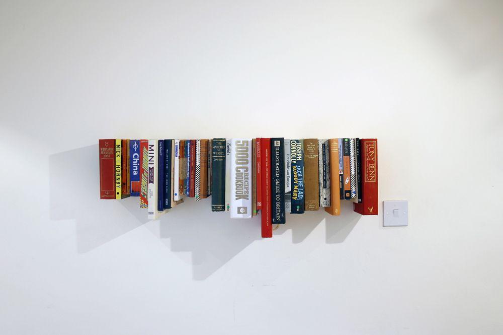 A Bookshelf Made From Books