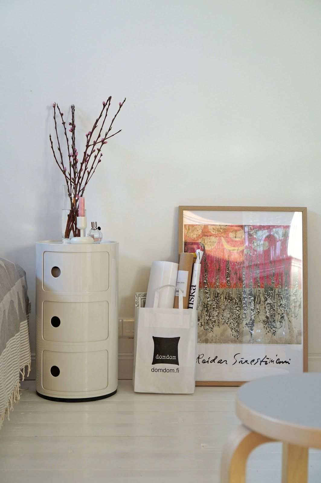 Cherry tree and Nappula on Componibili  http://valentinesafter12.blogspot.fi