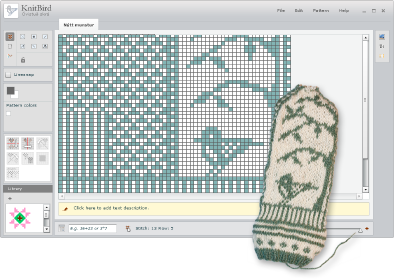 Knitbird Knitting Software Design Your Own Knit Patterns About Knitbird 30 Download Make Your Own Kn Knitting Charts Machine Knitting Knitting Tutorial