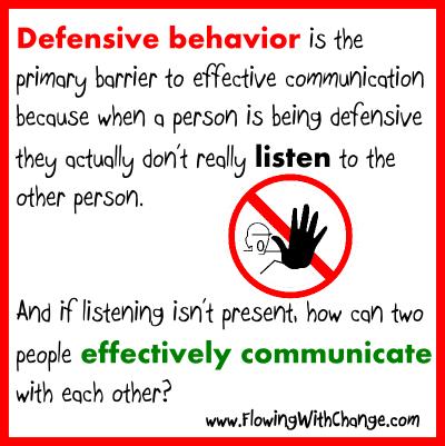 psychology behind defensiveness