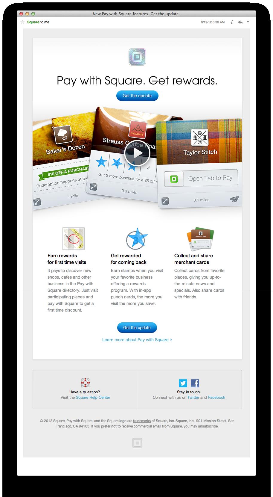 Square Pay With Square Get Rewards Web Design Rewards Earn Rewards