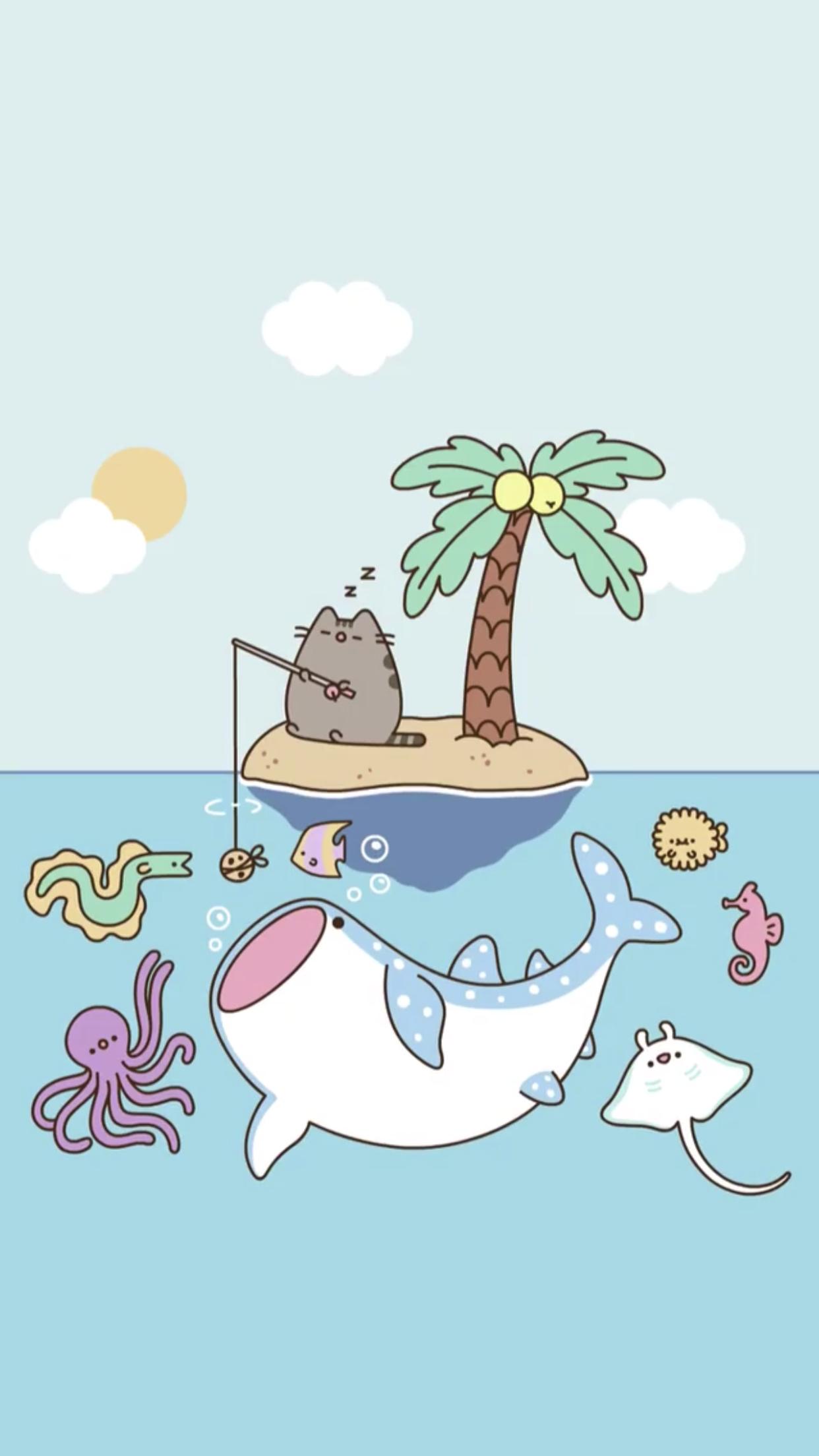 Pusheen The Cat Iphone Wallpaper Pusheen Cute Pusheen Cat Cute Cartoon Wallpapers