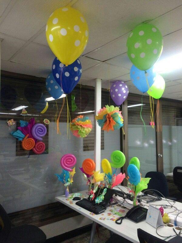 Candy decoration cumplea os pinterest cumplea os for Decoracion de oficinas creativas