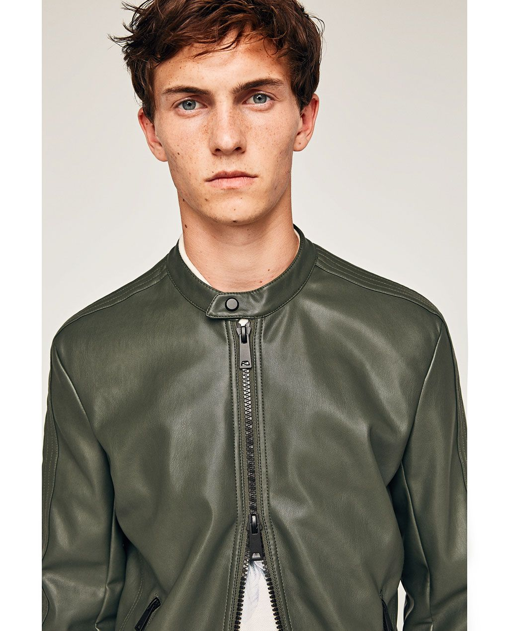 Image 1 of FAUX LEATHER JACKET from Zara Faux leather