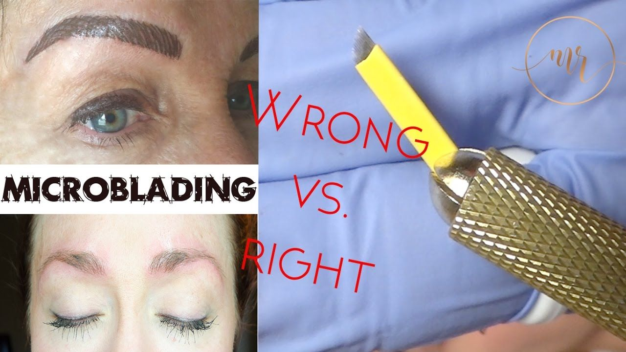 Microblading Wrong Vs. Right Michelle Rukny Makeup