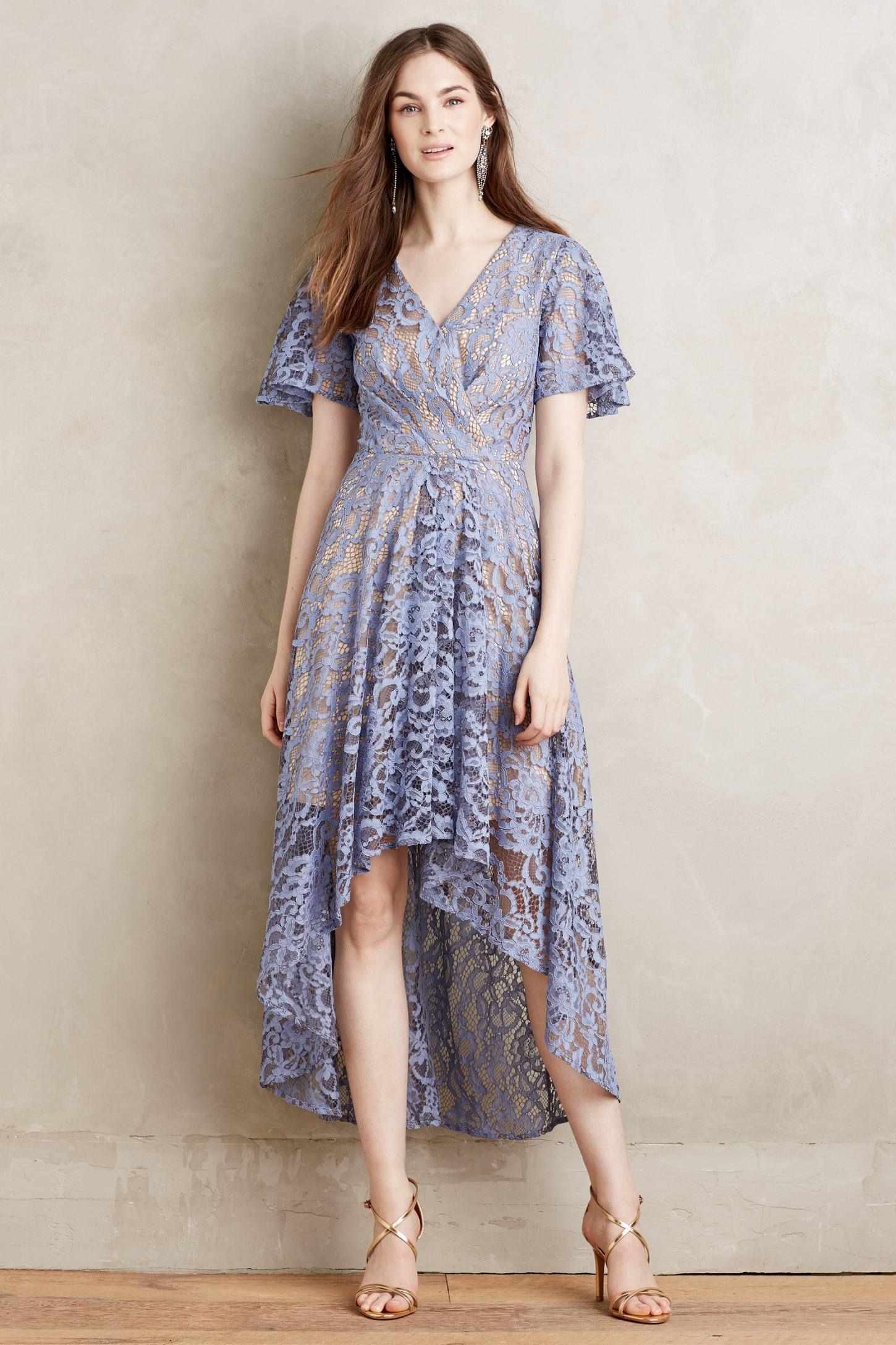 8ff81b6110cd0 Genevieve Size: 4 Description: Moulinetter Soeurs Lavender Anthropologie  Lace Dress
