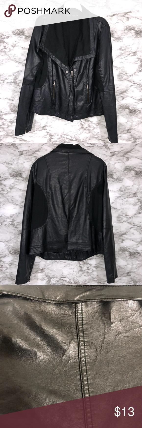 Forever 21 Black Leather Jacket Black Leather Jacket Jackets Leather Jacket [ 1740 x 580 Pixel ]