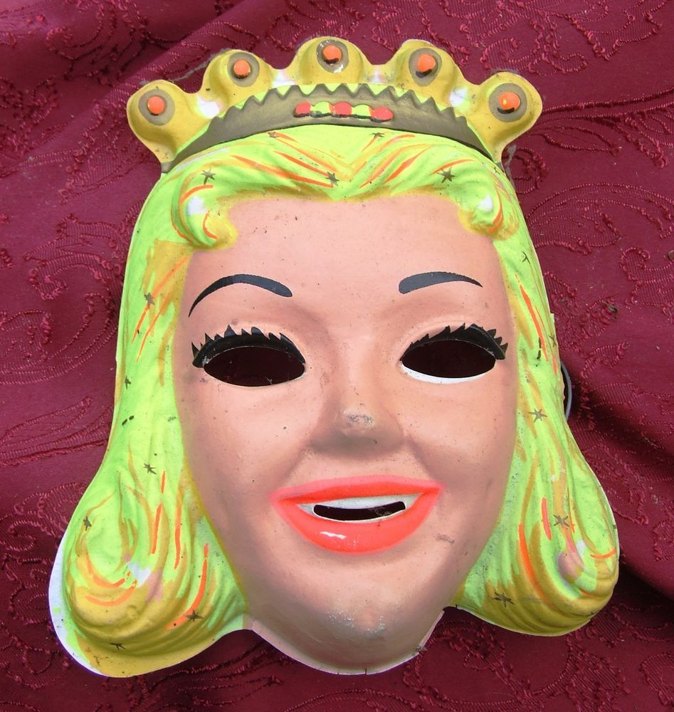 Vintage Halloween mask 1950's PRINCESS fairy beauty queen